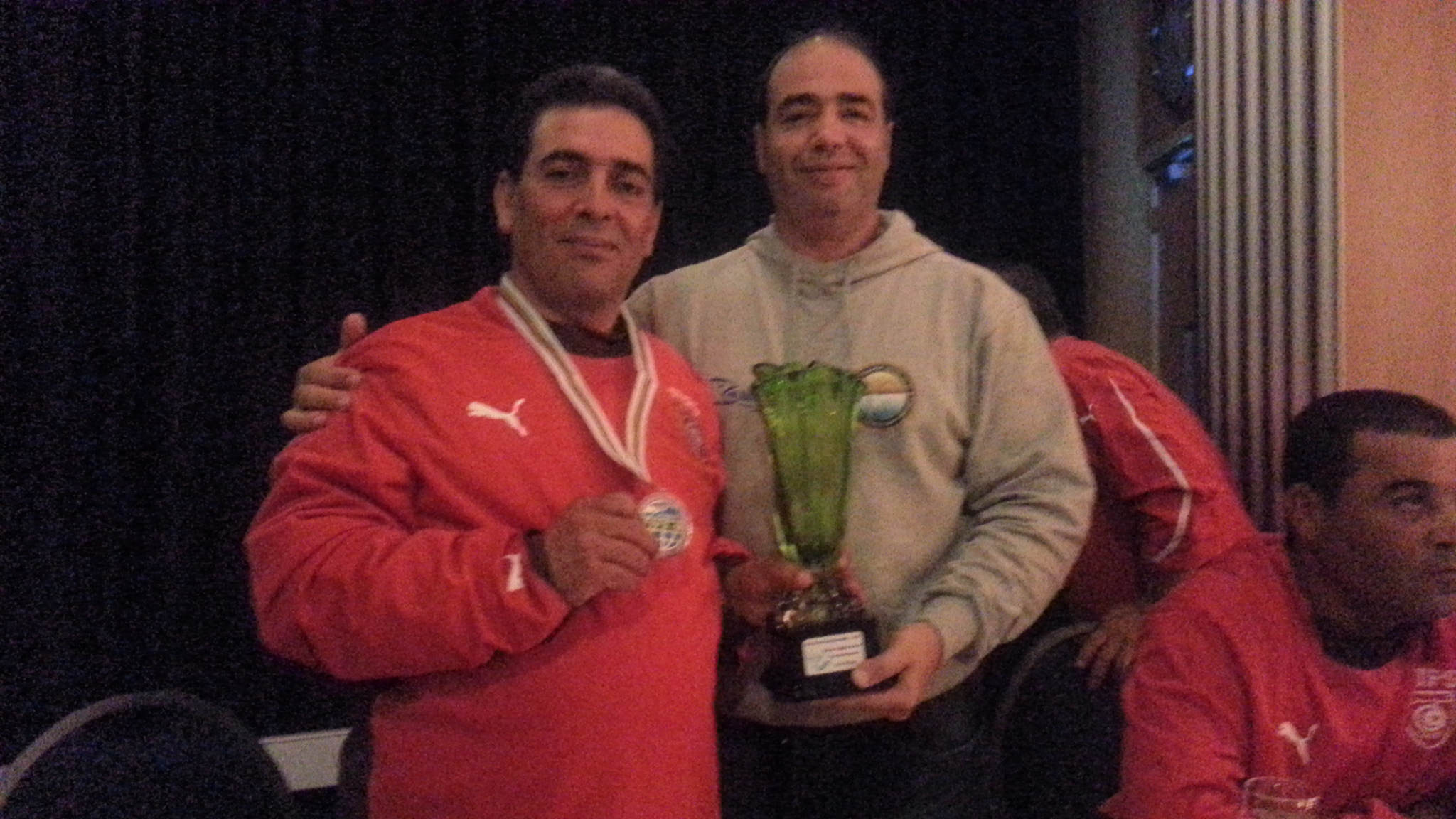 World Champion  Surfcasting 2012,   Karim Dakhlaoui a fianco del Tunisino 2° classificato Mohamed el Arbi
